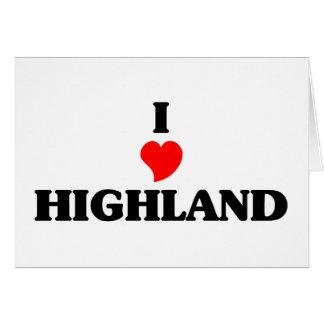 I love Highland Park Greeting Card