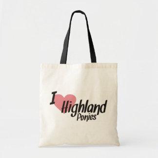 I Love Highland Ponies Tote Bag
