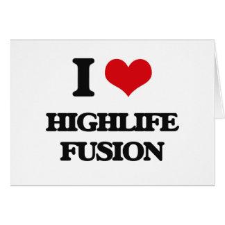 I Love HIGHLIFE FUSION Greeting Card