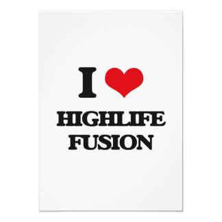 """I Love HIGHLIFE FUSION 5"""" X 7"""" Invitation Card"""
