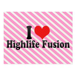 I Love Highlife Fusion Postcard