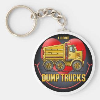 I Love Highway Dump Trucks Key Chain