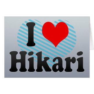 I Love Hikari, Japan Greeting Card