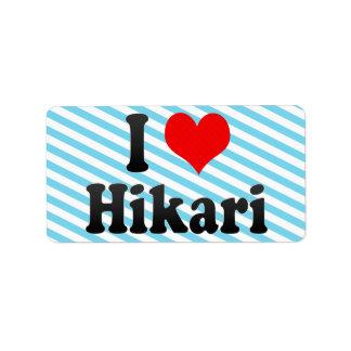 I Love Hikari, Japan Address Label