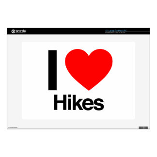 """i love hikes 15"""" laptop decal"""