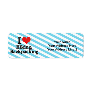 I Love Hiking, Backpacking Return Address Label