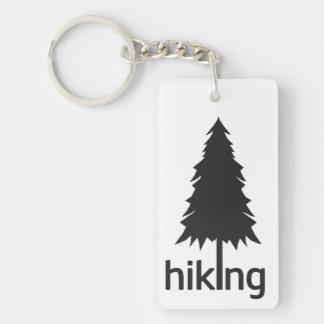 I Love Hiking ( Hike ) Single-Sided Rectangular Acrylic Keychain