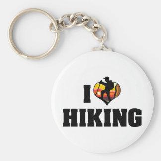 I Love Hiking Keychain