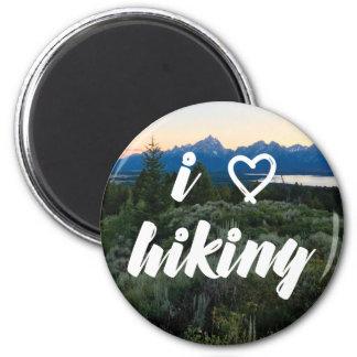 I Love Hiking Magnet