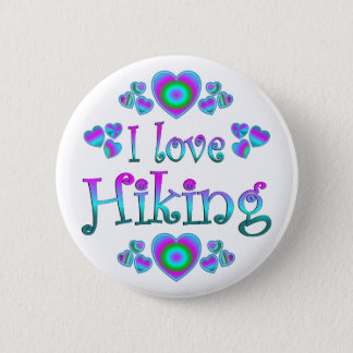 I Love Hiking Pinback Button