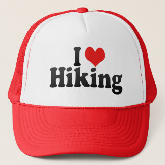 I Love Hiking Trucker Hat