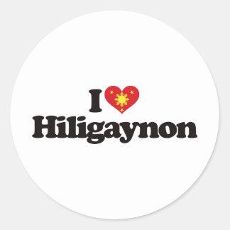 I Love Hiligaynon Classic Round Sticker