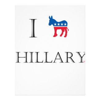 I love Hillary Clinton 2016 Letterhead