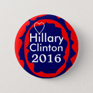 I Love Hillary Clinton 2016, LOVE IS CONTAGIOUS! Pinback Button
