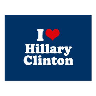 I LOVE HILLARY CLINTON 2016 POST CARDS