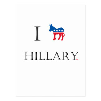 I love Hillary Clinton 2016 Postcard