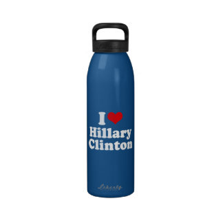 I LOVE HILLARY CLINTON 2016 WATER BOTTLES