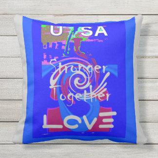 I Love Hillary Clinton for USA President art Outdoor Pillow