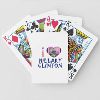 I Love Hillary Clinton for USA President Heart art Bicycle Playing Cards
