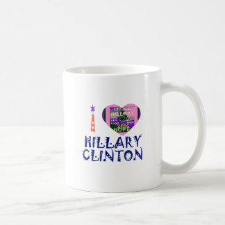 I Love Hillary Clinton for USA President Heart art Coffee Mug