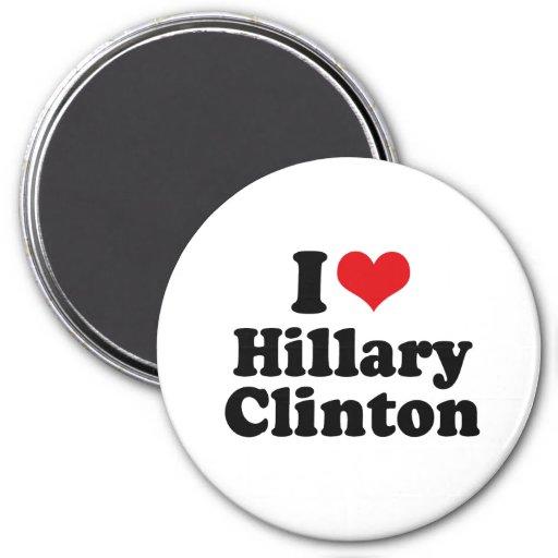 I LOVE HILLARY CLINTON.png Refrigerator Magnet