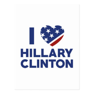 I Love Hillary Clinton Postcard