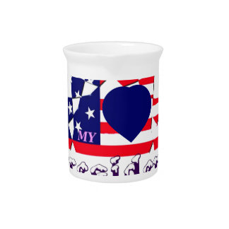 I love Hillary For USA President We are Stronger T Drink Pitcher