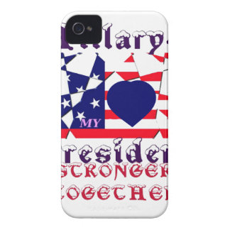 I love Hillary For USA President We are Stronger T iPhone 4 Cover