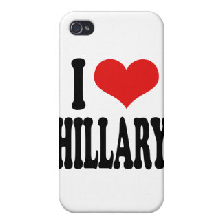 I Love Hillary Covers For iPhone 4