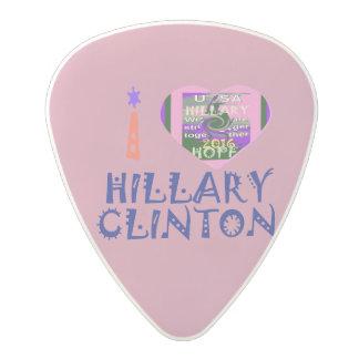 I love Hillary latest campaign slogan Medium Gauge Polycarbonate Guitar Pick