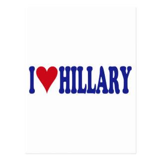 I Love Hillary Post Card