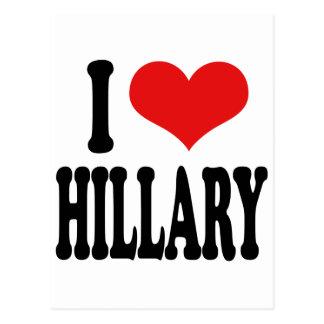 I Love Hillary Postcards