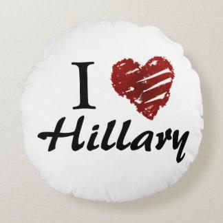 I love Hillary Round Pillow