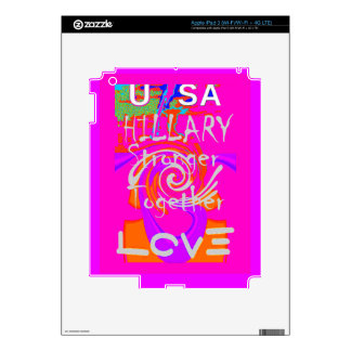 I Love Hillary USA President Stronger Together art iPad 3 Skin