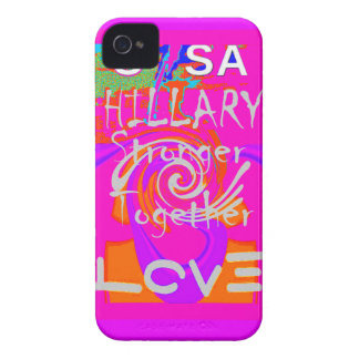 I Love Hillary USA President Stronger Together art iPhone 4 Case