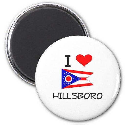 I Love Hillsboro Ohio 2 Inch Round Magnet