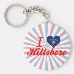 I Love Hillsboro, Oregon Key Chain