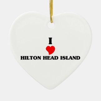 I love Hilton Head Island Ceramic Ornament