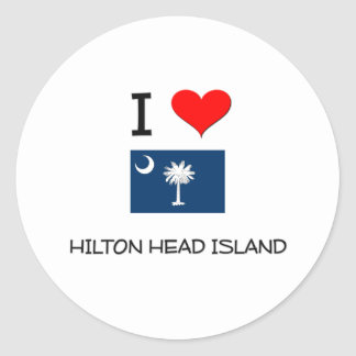 I Love Hilton Head Island South Carolina Classic Round Sticker