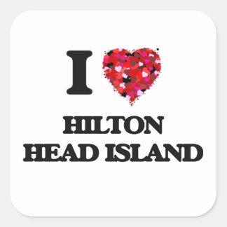I love Hilton Head Island South Carolina Square Sticker