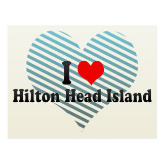 I Love Hilton Head Island, United States Postcard