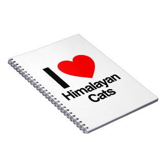 i love himalayan cats notebook