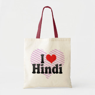 I Love Hindi Tote Bag