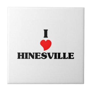 I love Hinesville Small Square Tile