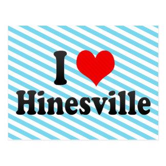 I Love Hinesville, United States Postcard