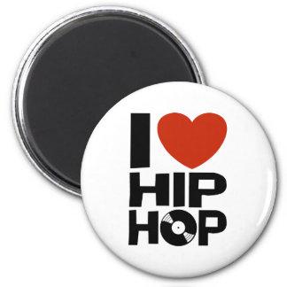 I Love Hip Hop 2 Inch Round Magnet