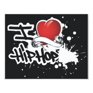 I Love Hip Hop - Blank Invitation