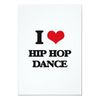 "I Love Hip Hop Dance 3.5"" X 5"" Invitation Card"