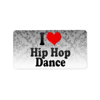 I love Hip Hop Dance Address Label