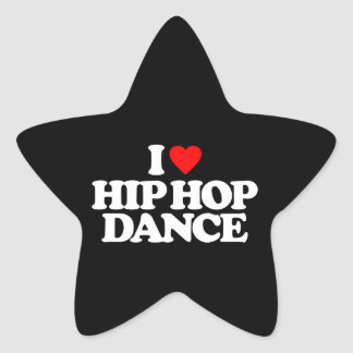 I LOVE HIP HOP DANCE STAR STICKER